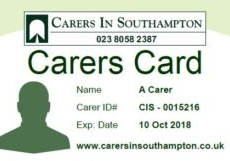 Carers Card: savings, recognition and acknowledgement